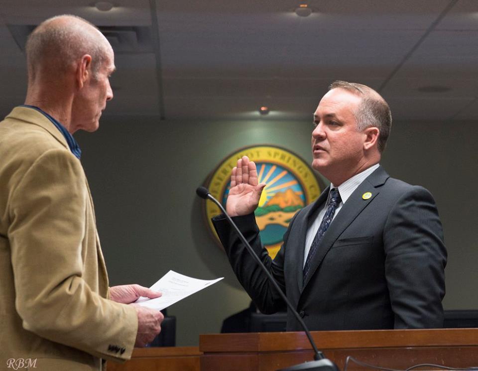 Mayor Scott Matas Swearing In, Desert Hot Springs December 1st, 2015.
